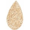 Swarovski Crystal Rock Drop 50x25mm Golden Shadow Crystal